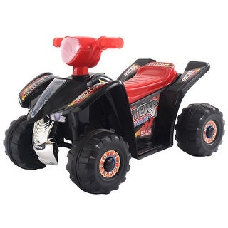 Costway 6V Kids Ride On ATV Quad 4 Wheeler Electric Toy Car Battery Power Led Lights