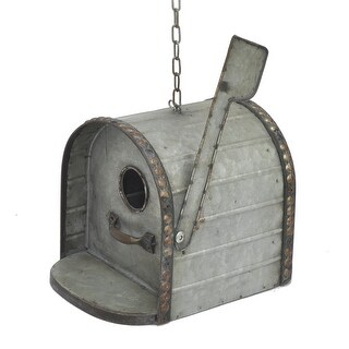 Galvanized Metal Hanging Mailbox Birdhouse