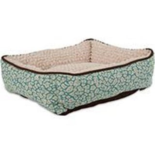 Petmate Inc-Beds-Jacquard Rectangle Lounger- Assorted 24 X 20 Inch