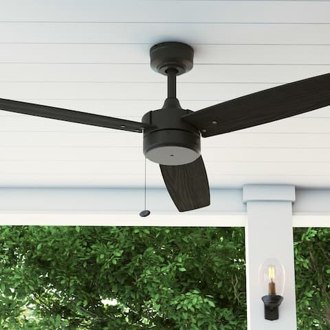 "52"" Prominence Home Journal Indoor/Outdoor Ceiling Fan, Matte Black"