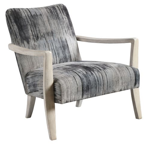 Uttermost Watercolor Grey Chenille Accent Chair