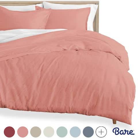 Bare Home Premium Sandwashed Microfiber Duvet Cover & Sham Set