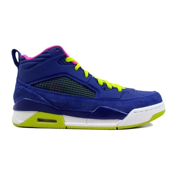 9298c805b133c5 Nike Air Jordan Flight 9.5 GG Deep Royal Blue Fierce Green-Hyper Pink Grade