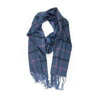 """Super Soft Luxurious Classic Cashmere Feel Winter Scarf - Navy - 72""""x12"""" with 5"""" fringes"""