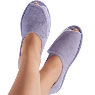 Women's Clinic Comfort Terry Cloth Slippers Lilac - Wide Width|https://ak1.ostkcdn.com/images/products/is/images/direct/2675adca089f460a13f31d38acc09c02bc572d1d/Women%27s-Clinic-Comfort-Terry-Cloth-Slippers-Lilac---Wide-Width.jpg?impolicy=medium