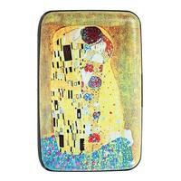 Women's Fine Art Identity Protection RFID Wallet - Klimt Kiss - Medium