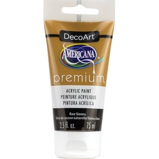 Americana Premium Acrylic Paint Tube 2.5Oz-Raw Sienna