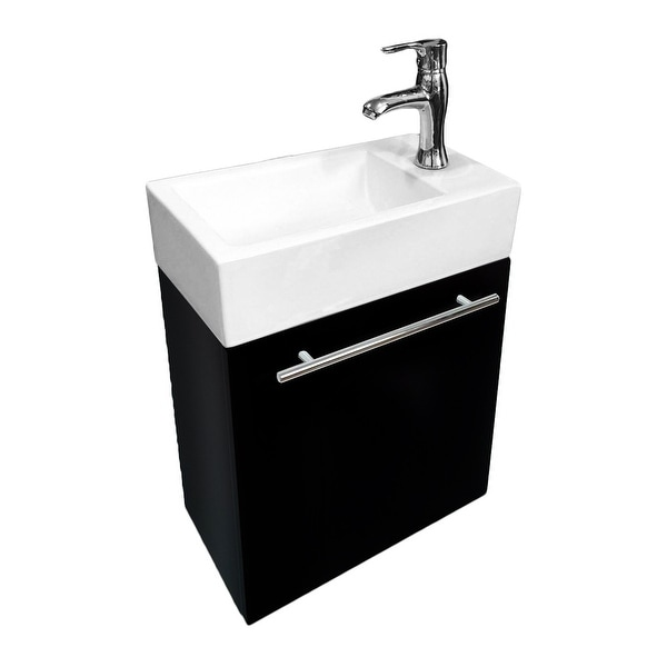 Shop Small Wall Mount Bathroom Vanity Cabinet Sink With