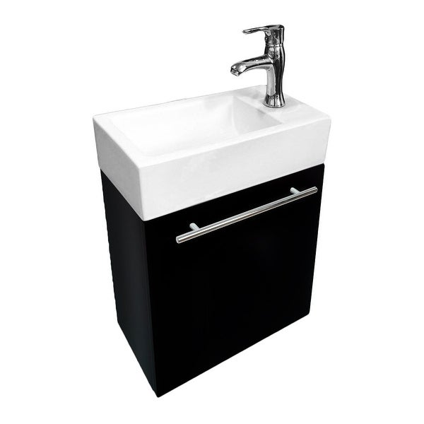 Shop Small Wall Mount Bathroom Vanity Cabinet Sink With Faucet