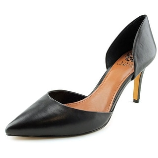 Vince Camuto Raccia Women Round Toe Leather Black Heels