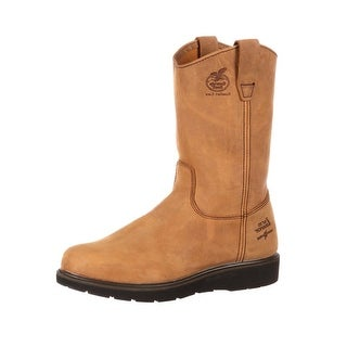 "Georgia Boot Work Mens 11"" Farm N Ranch Comfort Mississippi Tan G4432"