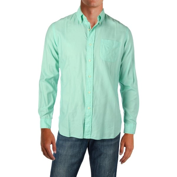 879a244c Polo Ralph Lauren Mens Button-Down Shirt Woven Custom Fit - M
