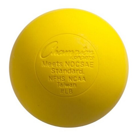 Champion Sports NCAA Official Lacrosse Balls (12 Pack, Yellow)