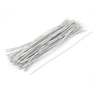 100pcs Candy Bag Package Flat Twist Ties 200mm Long White