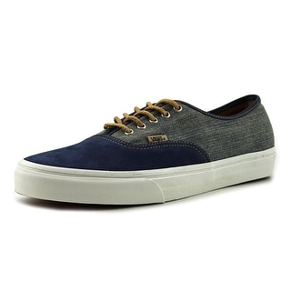 Vans Authentic Men  Round Toe Canvas Blue Skate Shoe