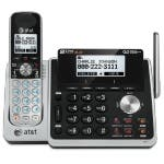 At&T Tl88102 Dect 6.0 1.90 Ghz 2 Line Expandable Cordless Phone W/ Dual Caller Id/Call Waiting