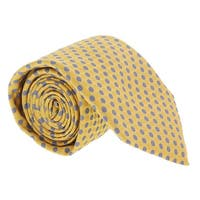 Canali Yellow/ Blue Geometric Tie - 59-3
