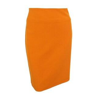 Alfani Women's Classic Lined Solid Pencil Skirt (Option: 22W - new sweet yam)