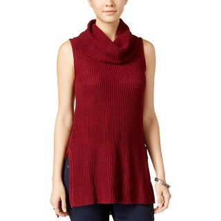 Ultra Flirt Womens Juniors Tunic Sweater Ribbed Knit Cowl