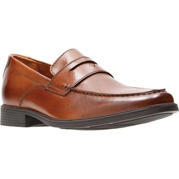 7772de37326 Shop Clarks Men s Tilden Way Penny Loafer Tan Full Grain Leather ...