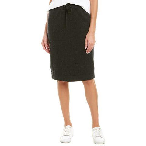 Vince Drawstring Wool & Cashmere-Blend Pencil Skirt