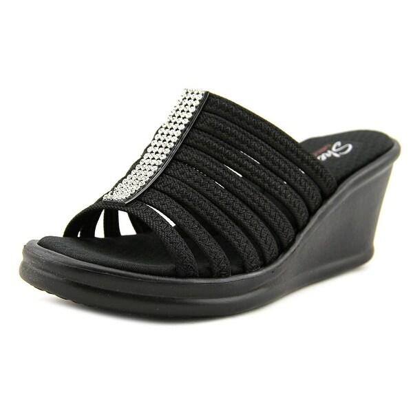 Skechers Rumblers Hot Shot Women  Open Toe Synthetic Black Wedge Sandal