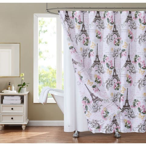 Sunset Park Europa 14-Piece Shower Curtain and Liner Set
