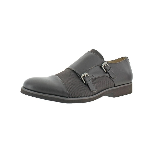 Calvin Klein Mens Finch Monk Shoes Buckle Strap