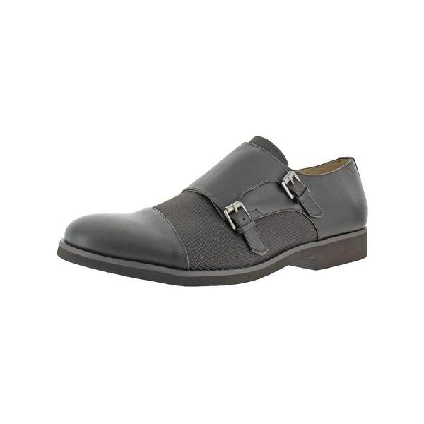 Calvin Klein Mens Finch Monk Shoes Buckle Strap