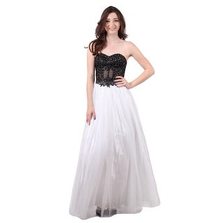 Tulle Gown with Corset Top