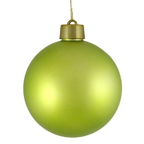 "Huge Matte Key Lime Green Shatterproof Christmas Ball Ornament 12"" (300mm)"