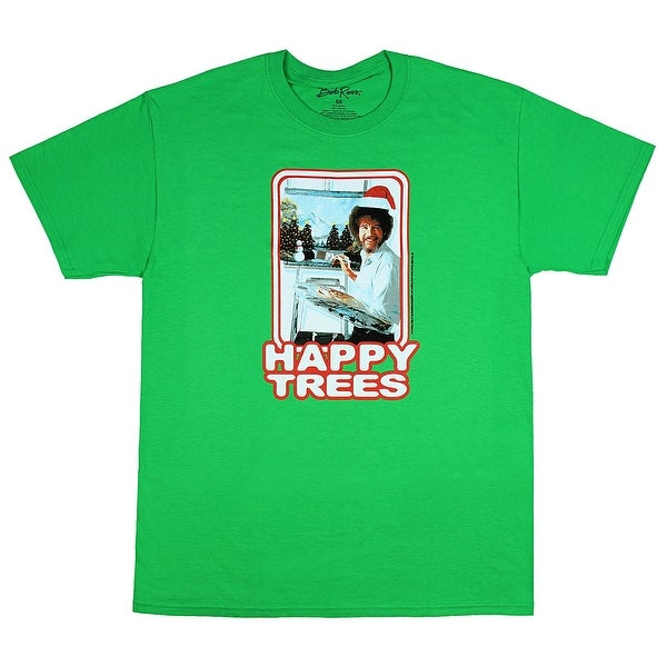 c3a218073 Shop Bob Ross Happy Trees Christmas Hat Men's Holiday T-shirt - On Sale -  Free Shipping On Orders Over $45 - Overstock - 19895603