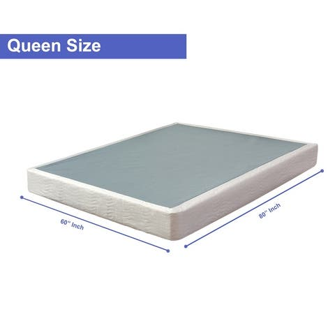 ONETAN, 8-Inch Wood Unassembled Traditional Box Spring / Foundation For Mattress.