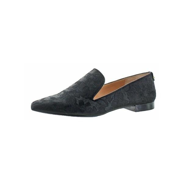 Calvin Klein Womens Elin Smoking Loafers Pointed Toe Low Heel
