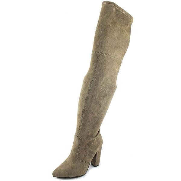 Steve Madden Rocking Women Pointed Toe Synthetic Gray Over the Knee Boot