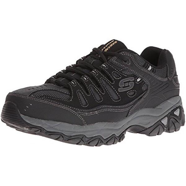 Fit Memory Foam Lace-Up Sneaker, Black
