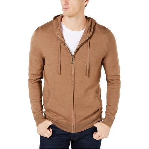 Club Room Mens Knit Hoodie Sweatshirt