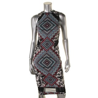 Material Girl Womens Juniors Casual Dress Jersey Colorblock