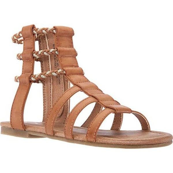 b7359b9c376 Shop Nina Girls  Chryssa Gladiator Sandal Tan Smooth Synthetic ...