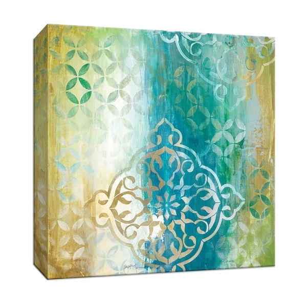 "PTM Images 9-147508 PTM Canvas Collection 12"" x 12"" - ""Teal Impression I"" Giclee Patterns and Designs Art Print on Canvas"