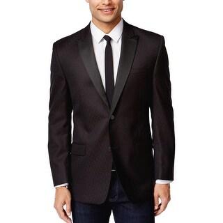 Marc New York Slim Fit Brown Patterned Evening Jacket 40 Long 40L