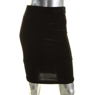 Aqua Womens Pencil Skirt Velvet Knee-Length