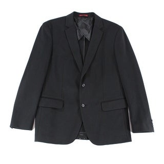 Alfani NEW Solid Deep Black Mens Size 2XL Slim Fit Two Button Blazer