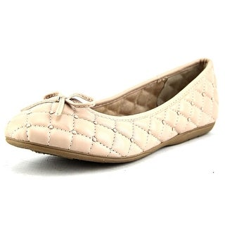 White Mountain Inspired Women Round Toe Synthetic Nude Flats