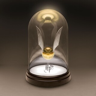 Paladone Products Harry Potter Golden Snitch Accent Lamp - Quidditch Snitch Under Dome - CLEAR