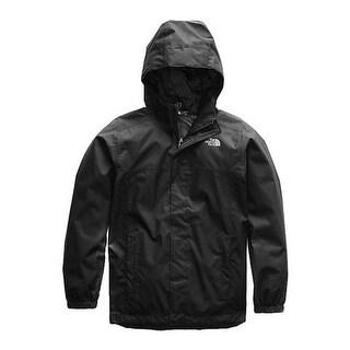 The North Face Boys' Resolve Reflective Logo Jacket TNF Black