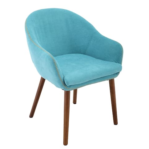 Brage Living Dylan Upholstered Dining Chair - Aqua Blue