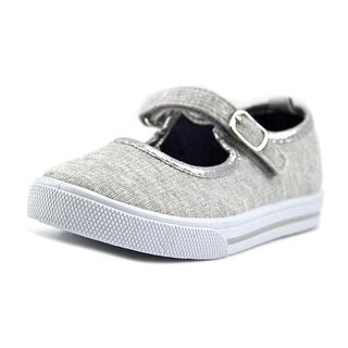 Osh Kosh Lola4-G Toddler Round Toe Canvas Gray Mary Janes