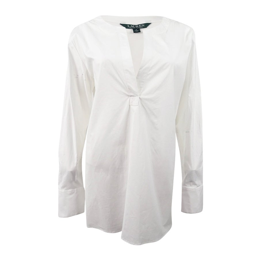 875e512ce89 Shop Lauren Ralph Lauren Women's Broadcloth Tunic (M, White) - White - M -  Free Shipping On Orders Over $45 - Overstock - 19770592