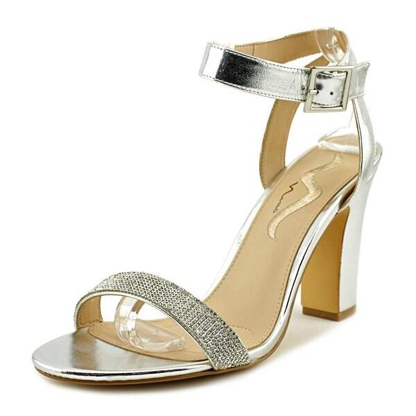 Nina Samiya Women Open Toe Leather Silver Sandals